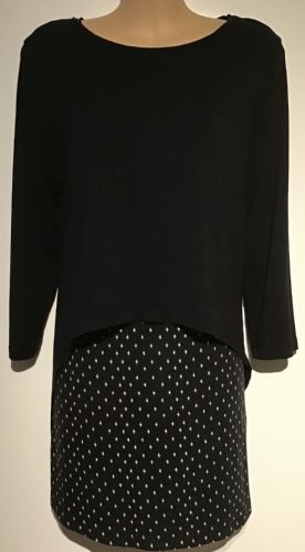 BLOOMING MARVELLOUS BLACK PRINTED JERSEY MATERNITY/NURSING TOP SIZE M 12-14